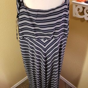Navy Blue & White Maxi by City Chic